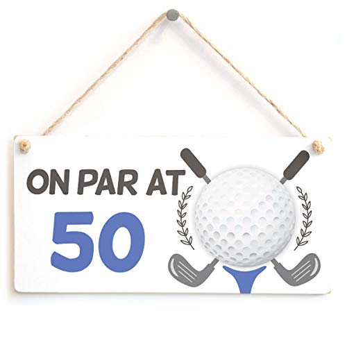 On Par at 50-50th Birthday Golf Gift - Funny Golf Sign from Button Hill Cottage