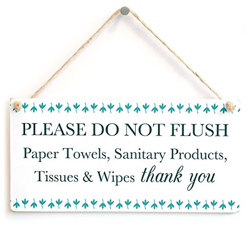 PLEASE DO NOT FLUSH Paper towels, etc Thank You - Septic Tank Thank You Sign For Bathroom Or Toilet from Button Hill Cottage