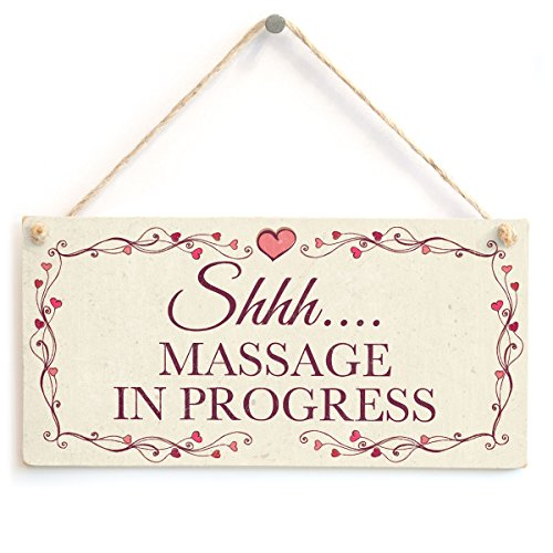 Shhh…. Massage in Progress - Beautiful Handmade Hanging Privacy Quiet Please Salon Sign from Button Hill Cottage