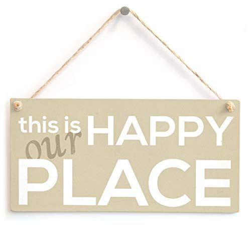 This is Our Happy Place - Handmade Shabby Chic Wood Sign/Plaque from Button Hill Cottage