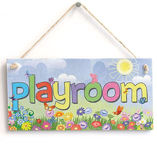 'playroom' - Kids Sign - Handmade Shabby Chic Wooden Door Sign/Plaque from Button Hill Cottage