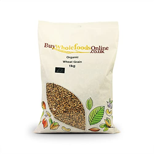 Organic Wheat Grain 1kg from Buy Whole Foods Online Ltd.