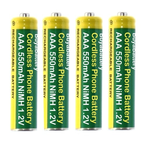 Pack of 4 BuyaBattery Branded Cordless Phone Batteries AAA 550mAh Rechargeable NiMH 1.2V from BuyaBattery