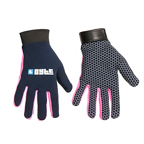 Byte Field Hockey Protection Skinfit Gloves (Navy/Pink, M) from Byte