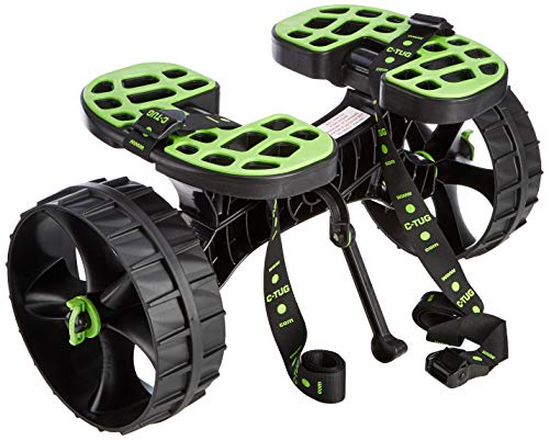 C-Tug Kayak and Canoe Trolley with Sandhopper Wheels, Green from C-Tug