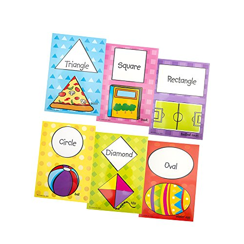C.S. Kids Shape Learning Cards for Kids, Teacher and Parent Educational Cards | Basic Shapes Flashcards (Pack of 6) from C.S. Kids