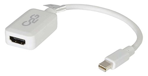 C2G 20CM Mini DisplayPort/Thunderbolt Male to HDMI Female 1080P Adapter White, Full HD Mini DP Compatible with Apple MacBook, Mac Mini, Mac Pro, Microsoft Surface Pro, Dell XPS and More from C2G