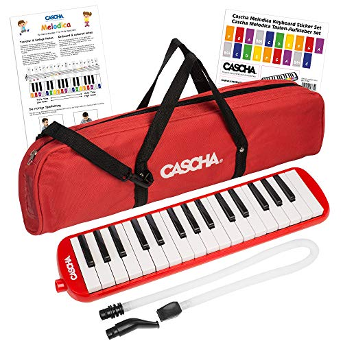 CASCHA Melodica with bag and mouthpiece, Instrument for children and beginners, Red from CASCHA