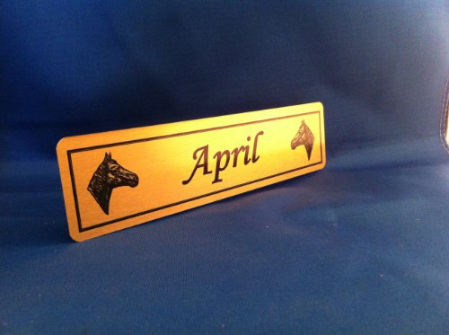 Personalised Horse Name Plaque Stable Door 200mmX50mm from CC Memorials
