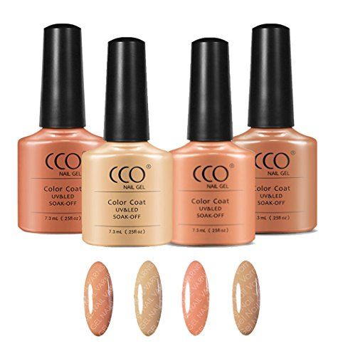CCO Nude Collection 4 Colours UV/LED Gel Nail Polish Shellac Varnish Professional Quality from CCO
