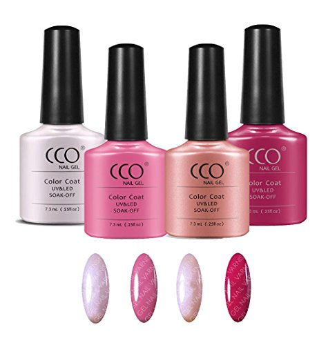 CCO Pink Collection 4 Colours UV/LED Gel Nail Polish Shellac Varnish Professional Quality from CCO