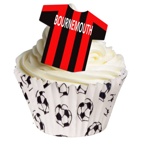 144 Edible T Shirt Decorations - great for Bournemouth fans - perfectly pre-cut wafer just pop them out the packaging and top them on your cake - Bulk Pack of 144 - by CDA Products Ltd from CDA Products