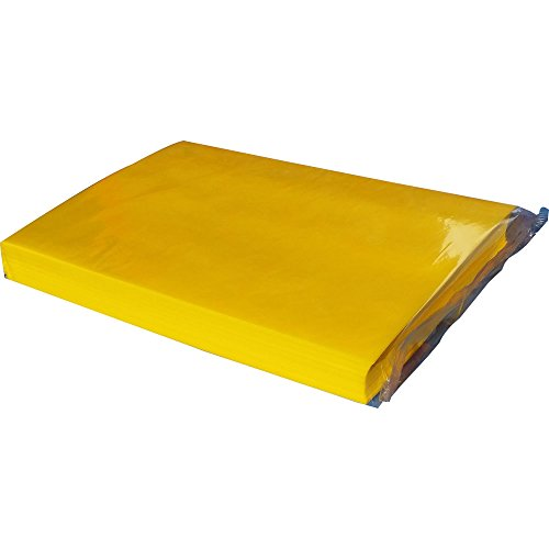 Pack of 100 perfectly cut Premium Translucent BRIGHT yellow edible wafer paper by CDA Products 260-047 from CDA Products