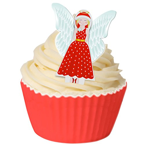 Pack of 12 Edible Pre-Cut Wafer Decorations - 3D Christmas Angel 201-298-12 from CDA Products