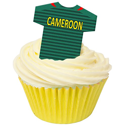 Pack of 12 Edible Wafer Decorations - Cameroon Football Shirts 201-429 from CDA Products