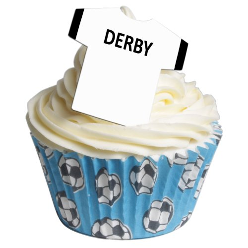 Pack of 12 Edible Wafer Decorations - Football Shirts - Derby County 201-272 from CDA Products