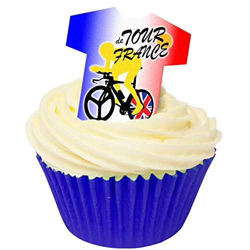 Pack of 12 Edible Wafer Decorations - Tour de France 201-408 from CDA Products