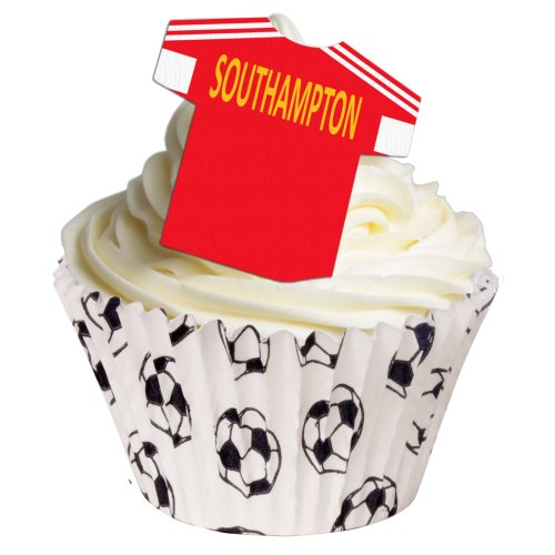 Pack of 12 Southampton Edible Wafer T Shirt Decorations - great for football themed cakes - 201-168 from CDA Products