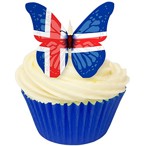 Pack of 12 perfectly cut Icelandic Flag Butterfly by CDA Products 201-542 from CDA Products