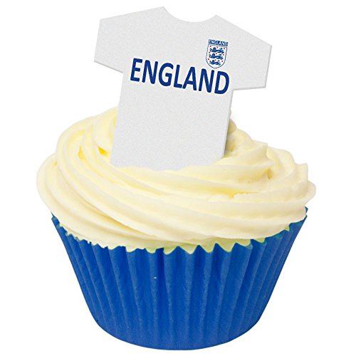 Pack of 24 Edible Wafer Decorations - England Football Shirts 201-419-24 from CDA Products