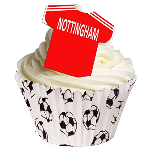 Pack of 24 - Nottingham Forest Football wafer decorations 201-192-24 from CDA Products