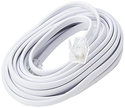 CDL Micro 3 m ADSL Broadband Modem Cable Lead Wire Cord with RJ11 Plugs - White from CDL Micro