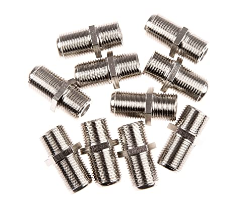 CDL Micro F Type Connector Satellite Cable Female to Female Coupler/Joiner/Gender/Changer (Pack of 10) from CDL Micro
