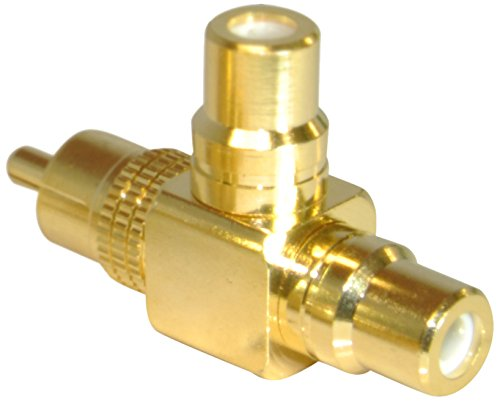 CDL Micro Single RCA 90 Degree Splitter M-F-F Male-Female-Female Gold Plated Adapter from CDL Micro