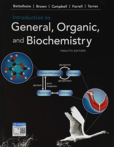 Introduction to General, Organic, and Biochemistry from CENGAGE Learning Custom Publishing