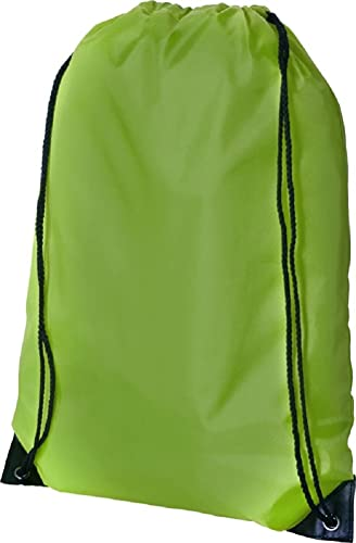 CENTRIX PREMIUM GYMSAC DRAWSTRING GYM BAG RUCKSACK - 13 COLOURS (LIME GREEN) from CENTRIX