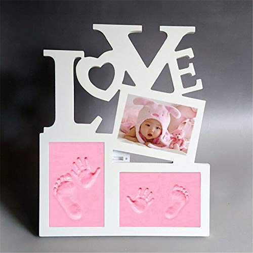 CHSEEA Baby Keepsake Handprint and Footprint Kit Photo Frame for Newborn Babies, Unique Baby Shower, Christening or Birthdays Gifts Memorable Keepsake Box Decorations for Room Wall or Nursery Decor #3 from CHSEEA
