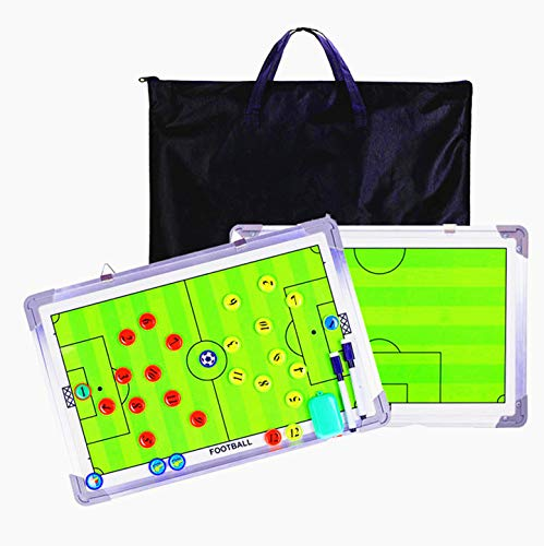 SODIAL Portable Trainning Assisitant Equipments Football Soccer Tactical Board 2.5 Fold Leather Useful Teaching Board Marker Boards Coaches' & Referees' Gear