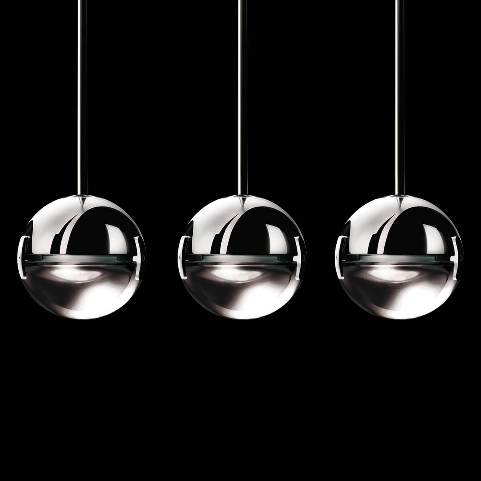 Stylish designer LED hanging light Convivio clear from Cini & Nils