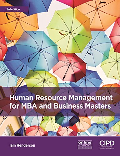 Human Resource Management for MBA and Business Masters from CIPD - Kogan Page