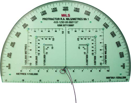 MoD Issue NATO Approved Military RA Map Reading Protractor and Instructions from CL Distribution