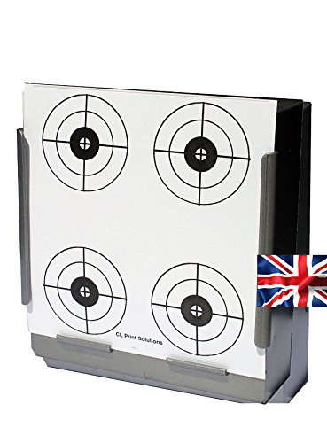 CL Print Solutions 100 x 14cm 4 Crosshair Circles Rifle Pistol Paper Targets (100gsm from CL Print Solutions