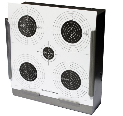 100 x 14cm Five Circle Competition Paper Targets Air Rifle Pistol (100gsm 14cm13 from CL Print Solutions