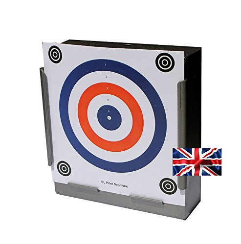 CL Print Solutions 100 x 17cm 2 Colour Red + Blue Paper Targets Air Rifle Pistol (100gsm from CL Print Solutions