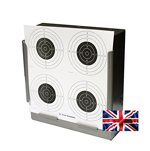 100 x 17cm Four Circle Paper Targets Air Rifle Pistol (100gsm from CL Print Solutions