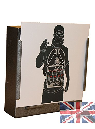 100 x 17cm Police Training (Suicide Bomber) Air Rifle Pistol Targets (100gsm from CL Print Solutions