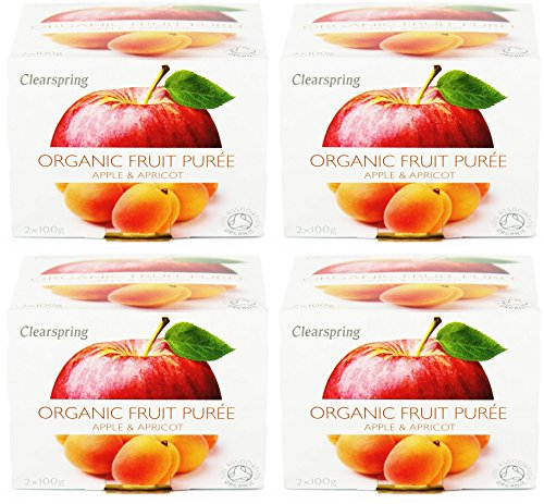 (4 PACK) - Clearspring - Fruit Puree Apple & Apricot | 2 X 100g | 4 PACK BUNDLE from CLEARSPRING WHOLEFOODS