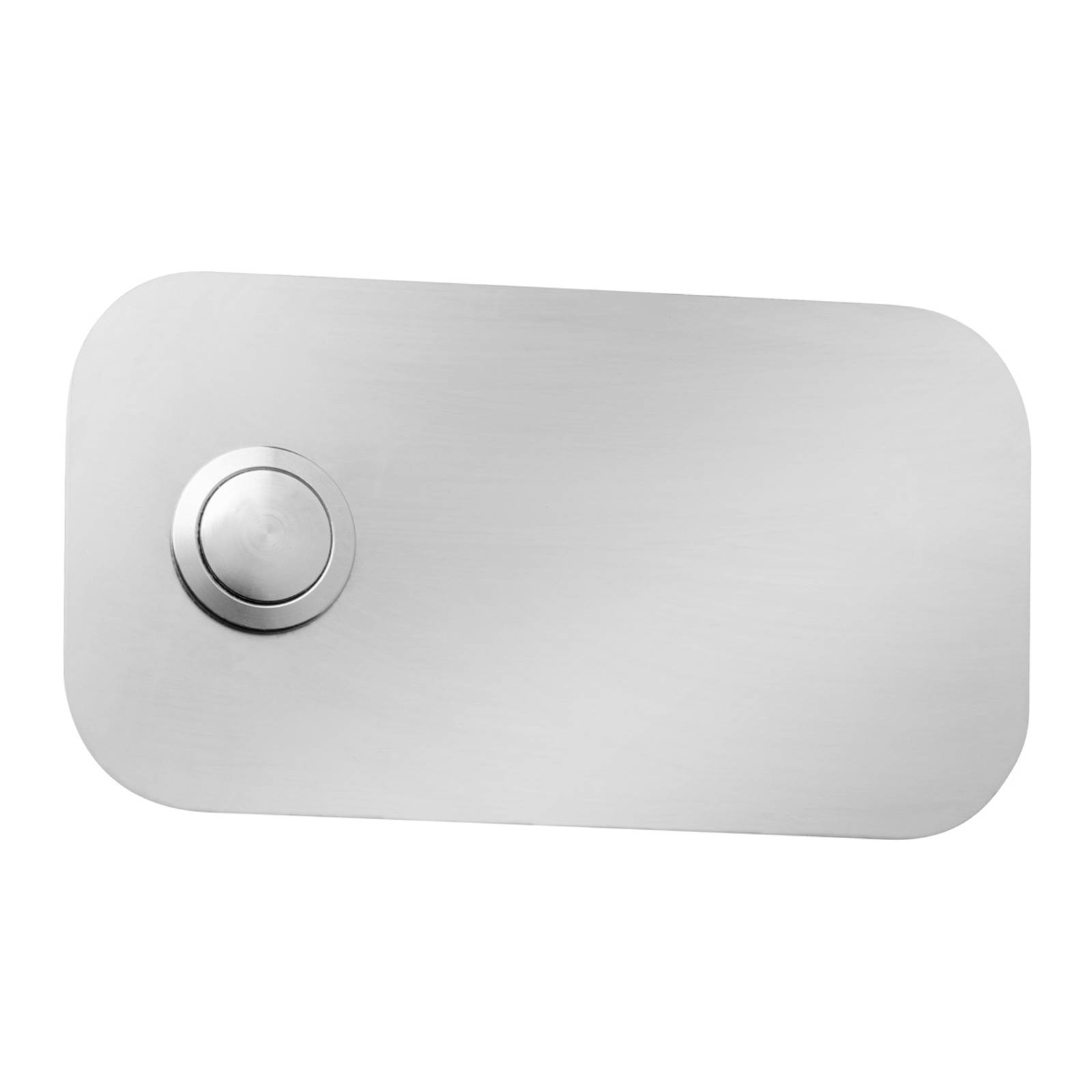 Rectangular Stainless Steel Doorbell Coverplate from CMD