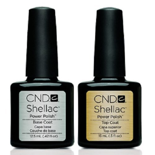 CND Shellac Base Coat, Top Coat & Xpress5 Top Coat - Available in Small & Large Sizes (Base & Xpress5 Coat 12.5/15ml) from CND