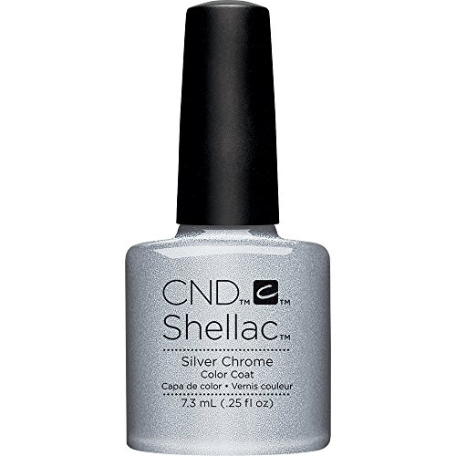 CND Shellac Nail Polish, Silver Chrome from CND