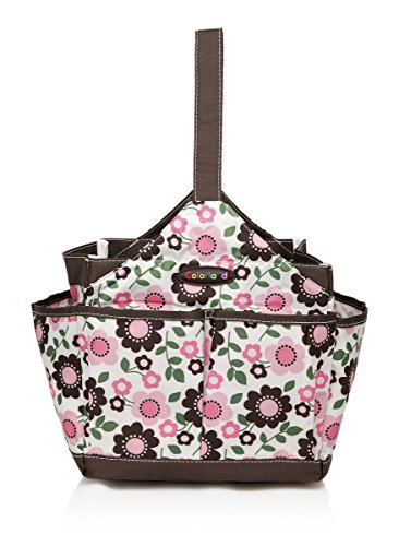 COLORLAND Emilia Water Resistant Baby Care Kitbag/Feeding Bath Organiser, Brown/Pink Prunus Mume Flower from Colorland