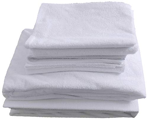 COMFORTNIGHTS Terry toweling waterproof bed set, Mattress protector, pillow protector and duvet protector. Double size. from COMFORTNIGHTS