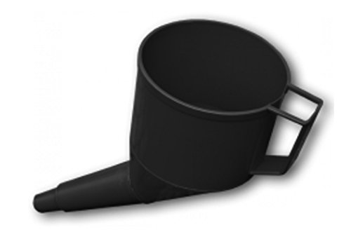 Angled Fuel Funnel with fine mesh Filter and Handle, Doesn't Require Two People to use! (Black) from Cost Wise