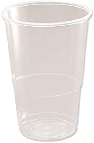 Plastico 1/2 Pint Plastic Glass, Pack of 50, Clear from CPD