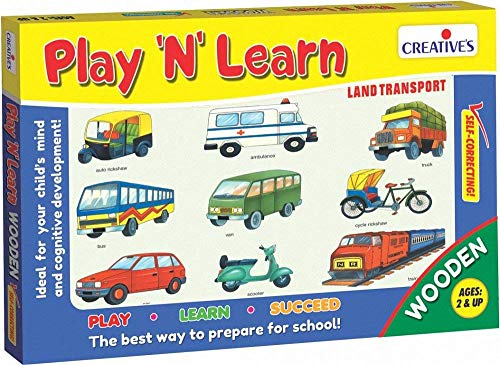 "CREATIVE EDUCATIONAL 0337 ""Play N Learn Land Transport Game from CREATIVE EDUCATIONAL"