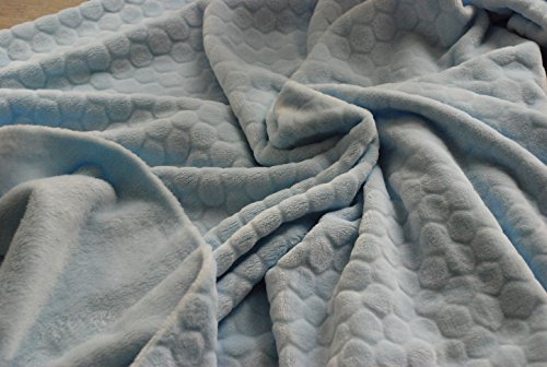 Double Sided Supersoft Cuddlesoft Fleece Fabric Material - HONEYCOMB PALE BLUE from CRS Fur Fabrics